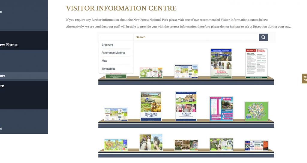Screenshot of Brochure Rack