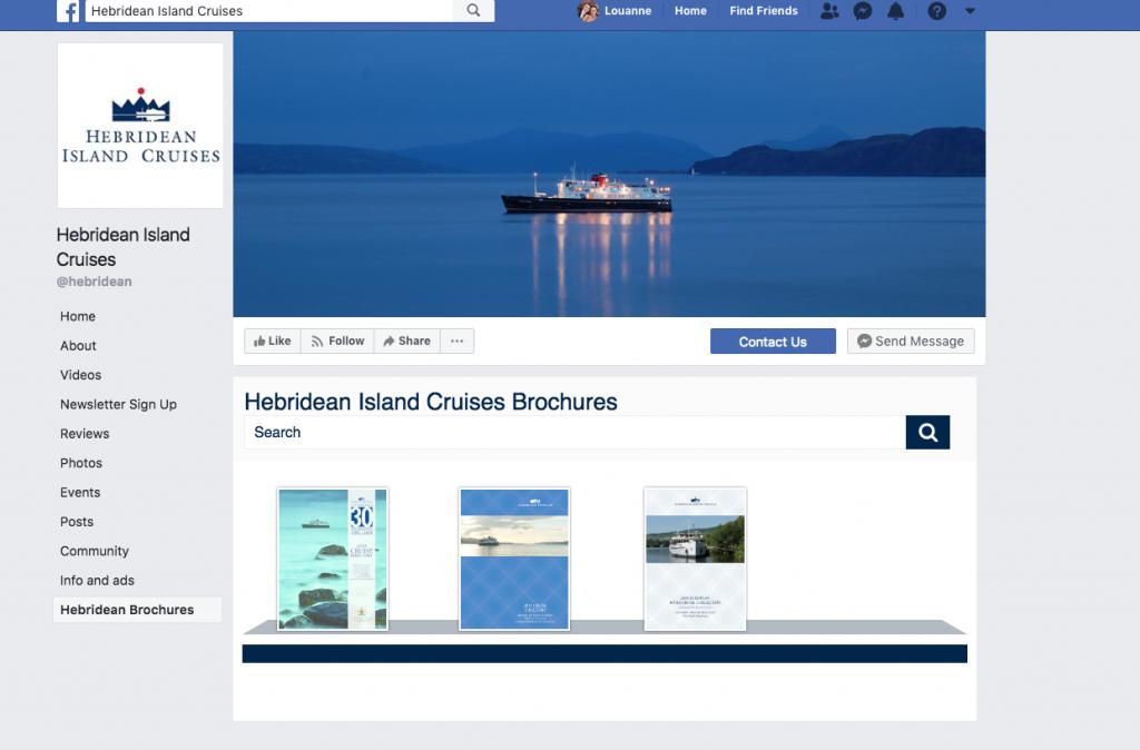 Screenshot of Hebridean Brochure Rack on Facebook