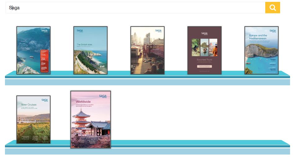 Saga Cruises Brochure Rack