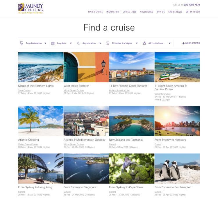 Mundy Cruising Find a Cruise Screenshot