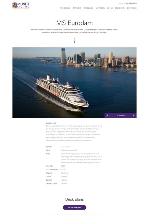 Screenshot of Mundy Cruising Ship Content