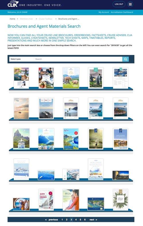 Screenshot of CLIA Brochure Rack