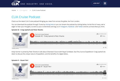 Screenshot of CLIA Podcast