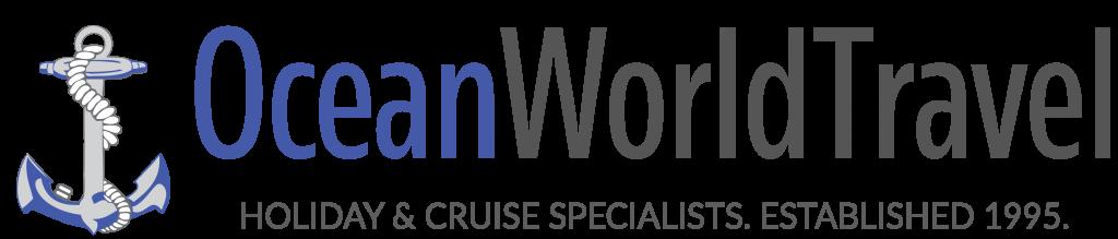 Ocean world travel logo