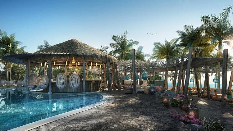 Rendering of Virgin Voyages' Beach Club