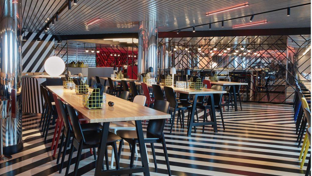 Interior of Razzle Dazzle restaurant