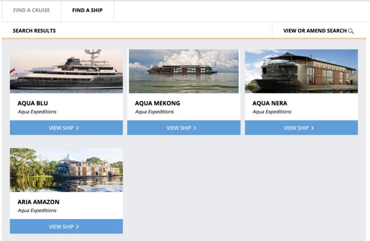 The four Aqua Expeditions ships