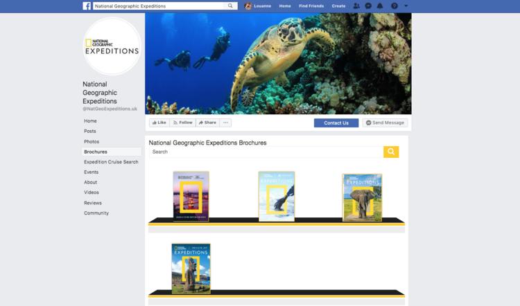 A Widgety Brochure Rack on Nat Geo's Facebook page