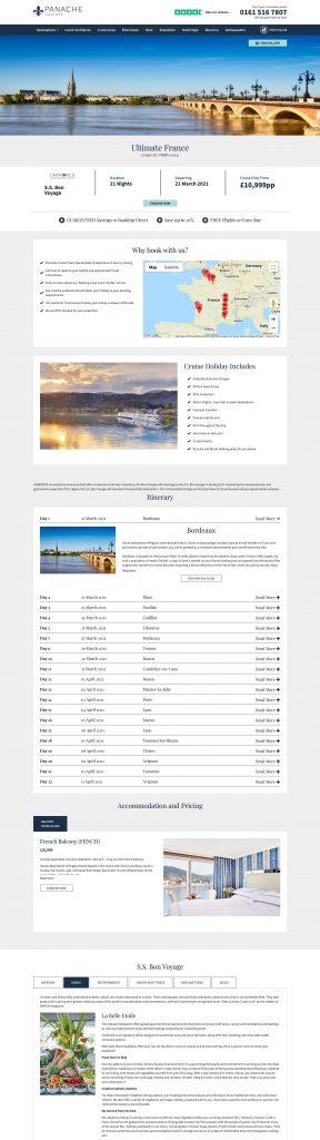 Screenshot of Panache Cruises