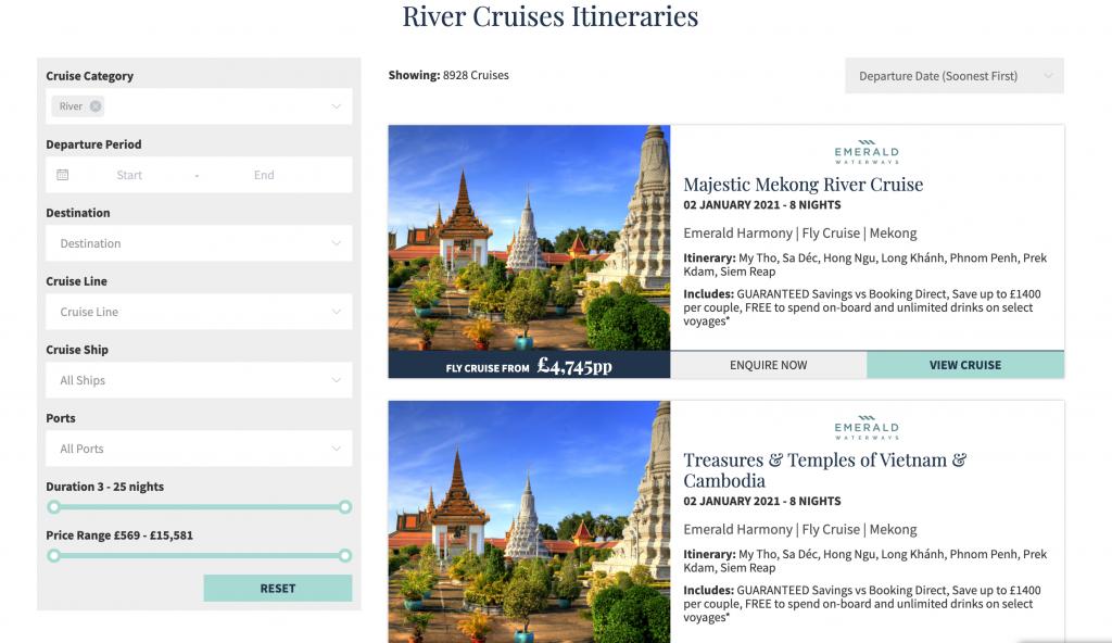 Screenshot of Panache River Cruises