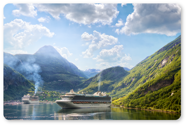 photo of a ship in Fjords
