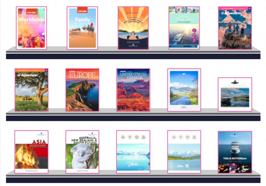 Screenshot of Widgety Brochure Rack in pink