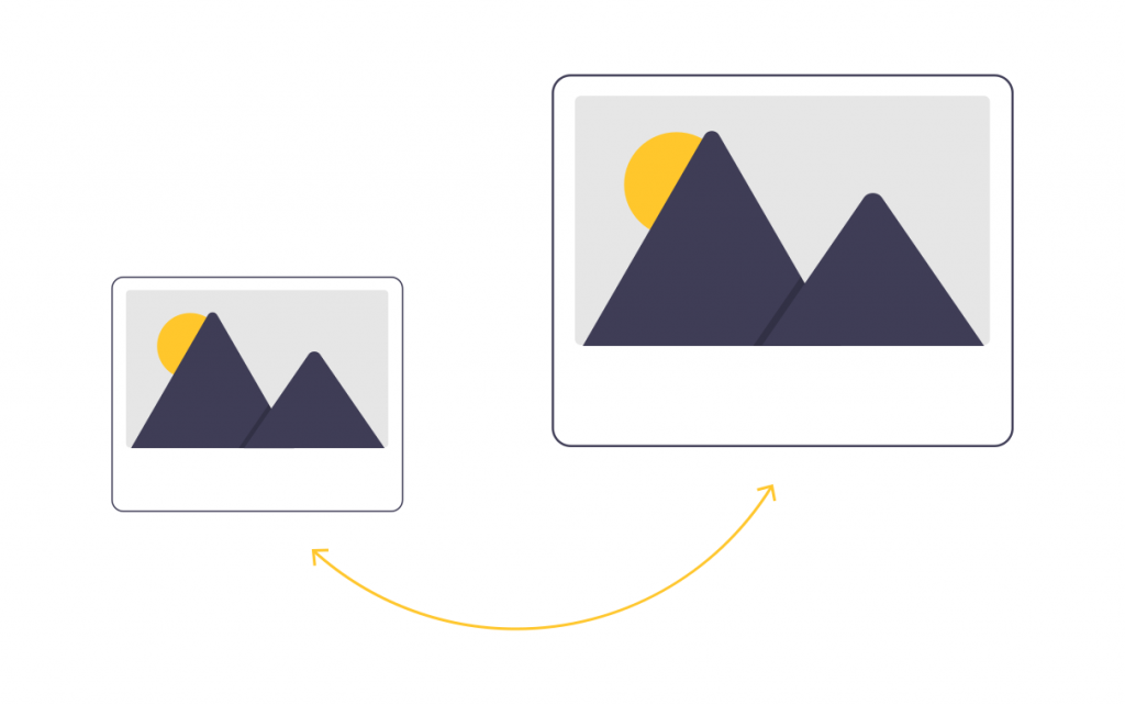 Illustration of two images side by side