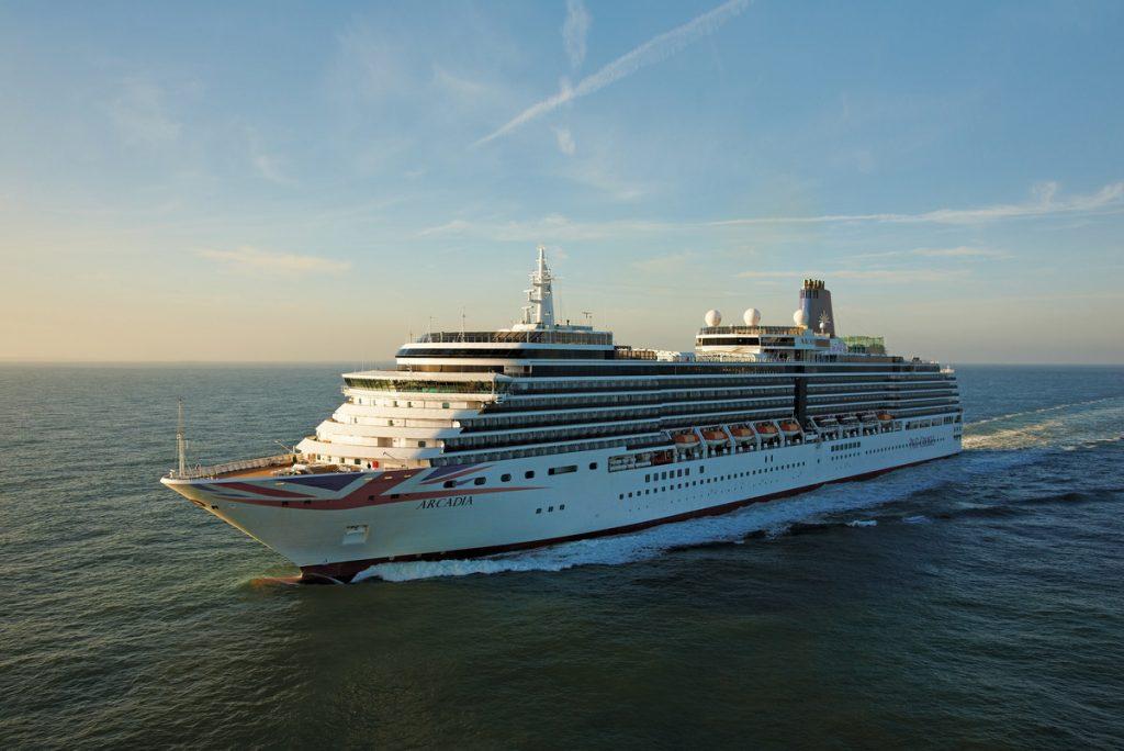 P&O Cruises Arcadia Exterior at sea