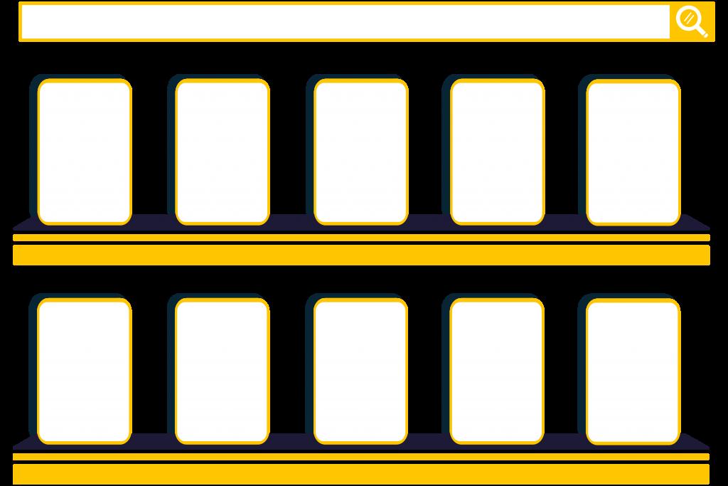 Brochure Rack illustration